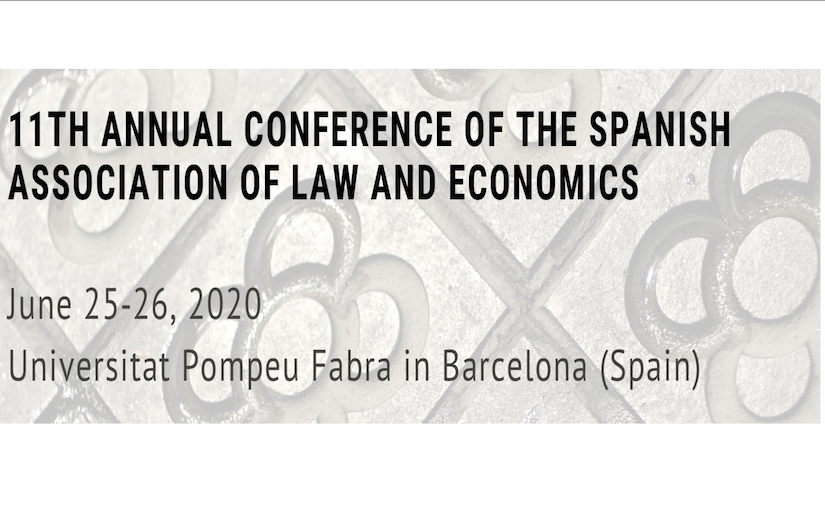 [posponed to 2021] 11th Annual Conference of the Spanish Association of Law and Economics